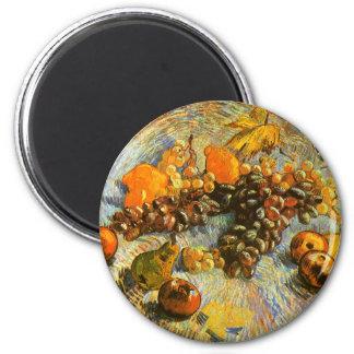 Imã Ainda vida com maçãs, peras, uvas - Van Gogh