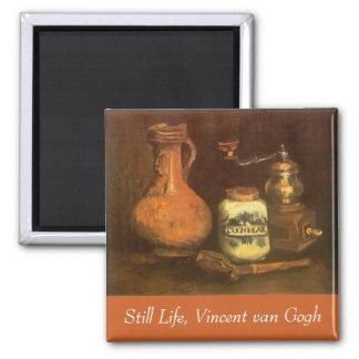 Imã Ainda vida com o moinho de café por Vincent van