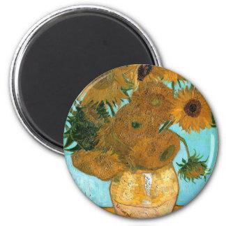 Imã Ainda vida: Girassóis - Vincent van Gogh