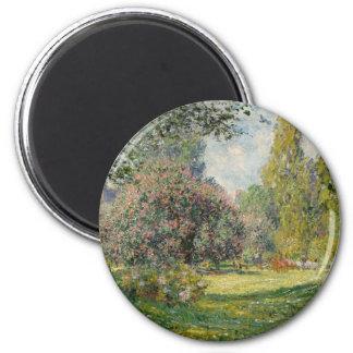Imã Ajardine o Parc Monceau - Claude Monet