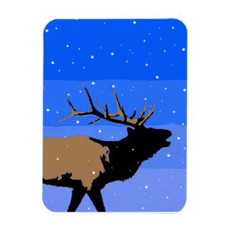 Ímã Alces de Bugling no inverno - arte original dos
