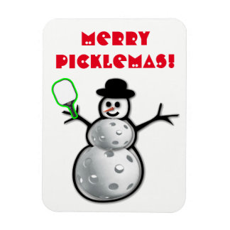 Ímã alegre do boneco de neve de Picklemas