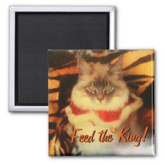 Imã Alimente o rei! Seu meme da imagem do animal de