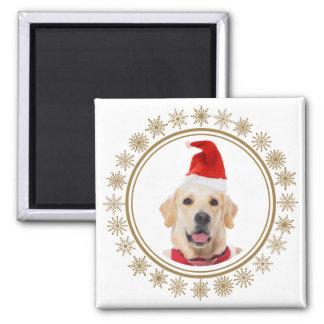 Imã Amante do cão do chapéu do papai noel do Natal do