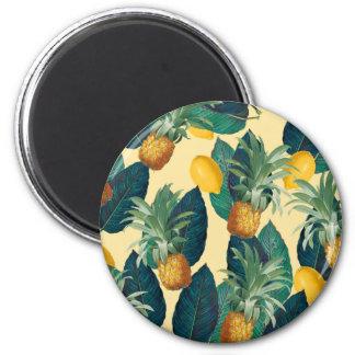 Imã amarelo dos limões do abacaxi
