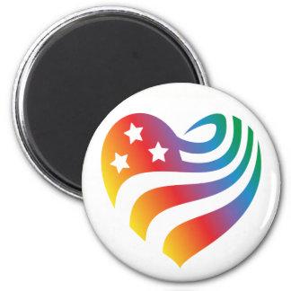 Imã AmericanHeart - arco-íris