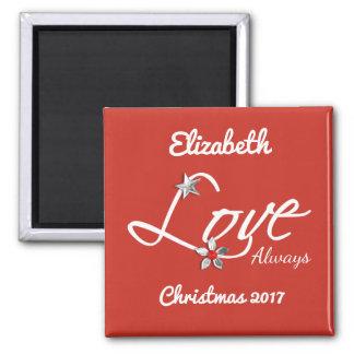 Imã Amor conhecido personalizado do Natal sempre