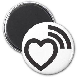 Imã amor da sinalização do coração