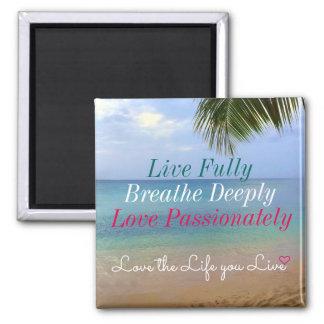 Imã Amor do ímã | da praia | a vida você vive