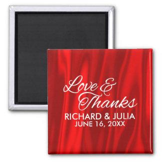 Imã Amor elegante e favor vermelho do casamento dos