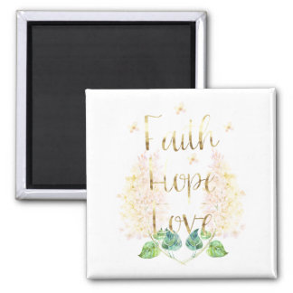 Imã Amor floral da esperança da fé do Lilac do ouro