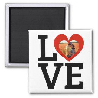 Imã Amor moderno do coração vermelho feito sob