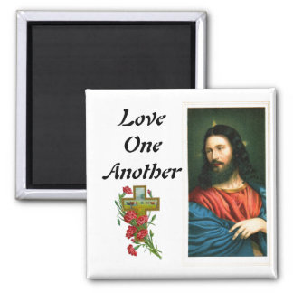 Imã Amor um outro com o ímã da imagem do Jesus Cristo
