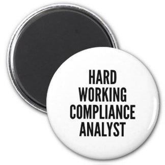 Imã Analista de trabalho duro da conformidade