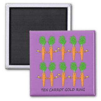 Imã Anel de ouro de dez cenouras