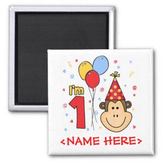 Imã Aniversário da cara do macaco primeiro