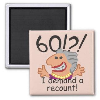 Imã Aniversário da descrição engraçada 60th