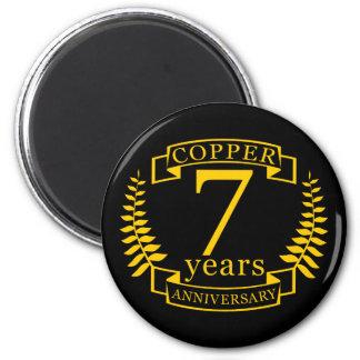Imã Aniversário de casamento de cobre 7 anos
