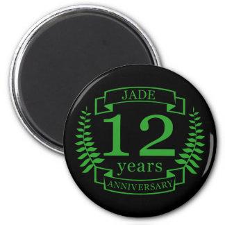 Imã Aniversário de casamento de pedra preciosa do jade