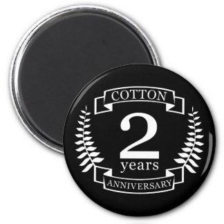 Imã Aniversário de casamento do algodão 2 anos casados