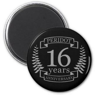 Imã Aniversário de casamento tradicional de prata 16