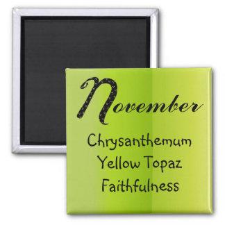 Imã Aniversário de novembro