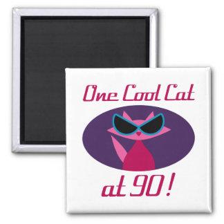 Imã Aniversário legal do 90 do gato