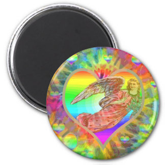 Imã Anjo da tintura do laço do arco-íris