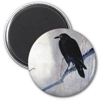 Imã Antiguidade preta do pássaro do corvo