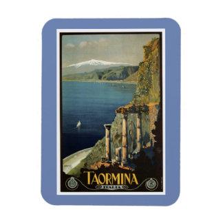 Ímã Anúncio italiano do viagem de Taormina Sicília do