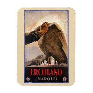 Ímã Anúncio italiano do viagem do art deco de Ercolano