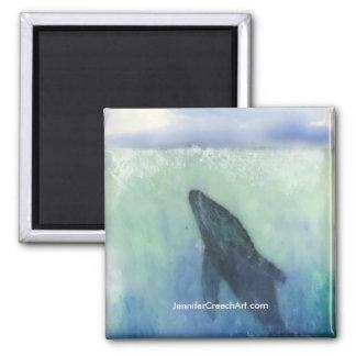 """Imã """"Apenas abaixo da superfície: Ímã arte da baleia"""