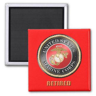 Ímã aposentado USMC Ímã Quadrado