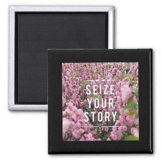 Imã Apreenda sua história ímã de 2 polegadas