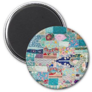 Imã Aqua e design azul da tapeçaria da edredão
