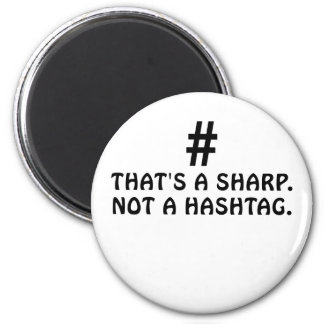 Imã Aquele é um Sharp não um Hashtag
