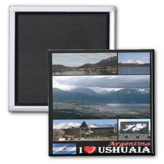 Imã AR - Argentina Ushuaia eu amo a colagem do mosaico