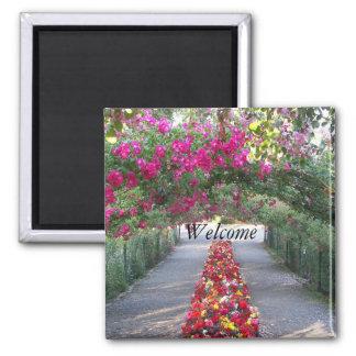 Imã Arcada do jardim floral