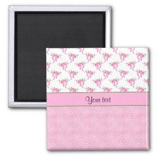 Imã Arcos cor-de-rosa românticos & damasco cor-de-rosa