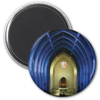 Imã Arcos na igreja azul