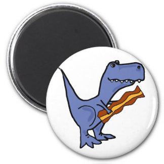 Imã Arte azul engraçada do bacon comer do dinossauro