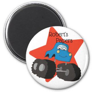 Imã Arte azul Schoolwork do monster truck e da estrela