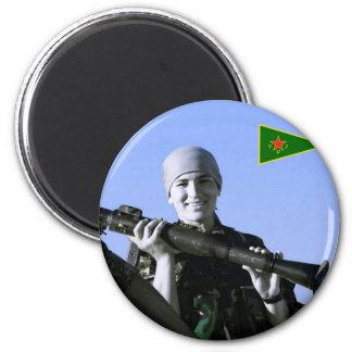 Imã Arte curdo do lutador 4 de YPJ