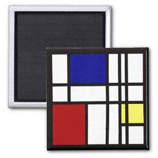 Imã Arte da impressão de Mondrian