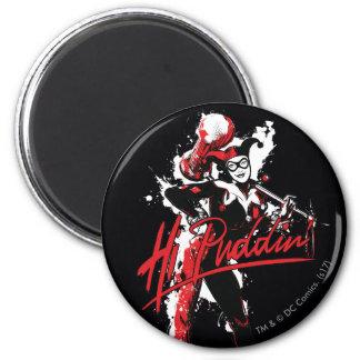 "Imã Arte da tinta do Puddin'"" de Batman | Harley Quinn"