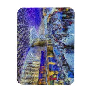 Ímã Arte de Londres da estação dos reis trilho
