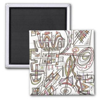 Imã Arte do Rapsódia-Abstrato geométrica