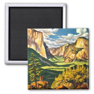 Imã Arte do viagem do parque nacional de Yosemite