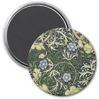 Imã Arte floral do vintage do teste padrão da alga de