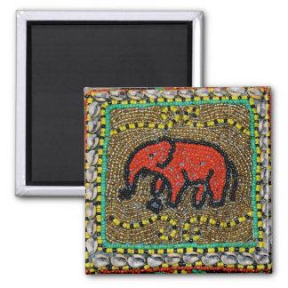 Imã Arte tribal nativa do elefante do Dayak